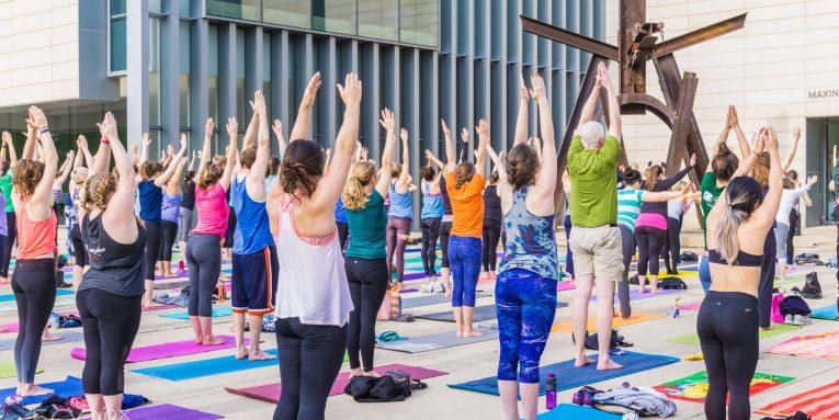 stock photo 159515315 765x383 - Yoga Festival in London